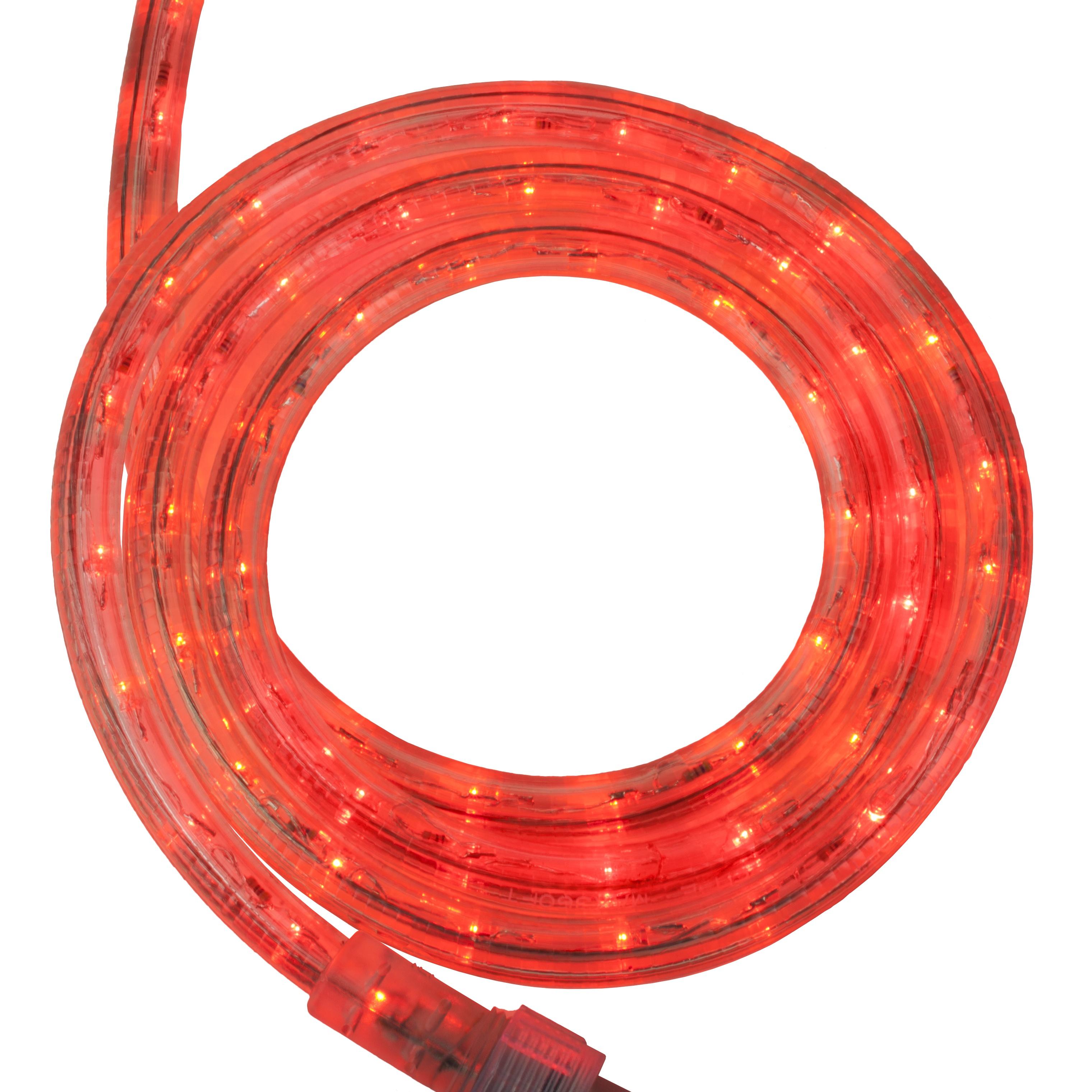 LED Rope Lighting  30 Red LED Rope Light 120 Volt