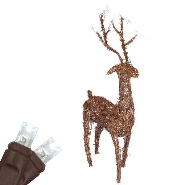 white lighted grapevine deer outdoor christmas reindeer