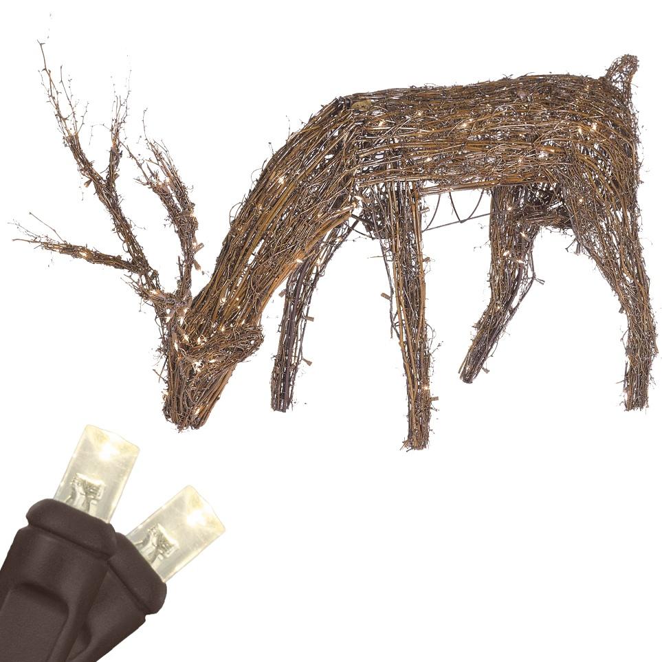 Outdoor Christmas Decorations  48 Grapevine Reindeer