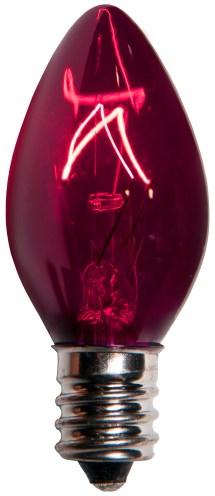 C7 Christmas Light Bulb - Purple Bulbs