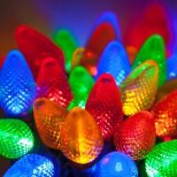 LED Christmas Lights - 25 C7 Multi Color LED Christmas ...
