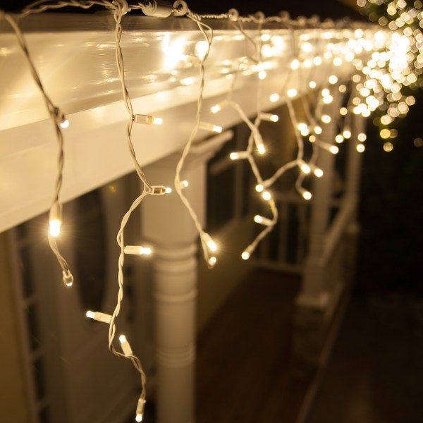 LED Christmas Lights 70 5mm Warm White LED Icicle Lights