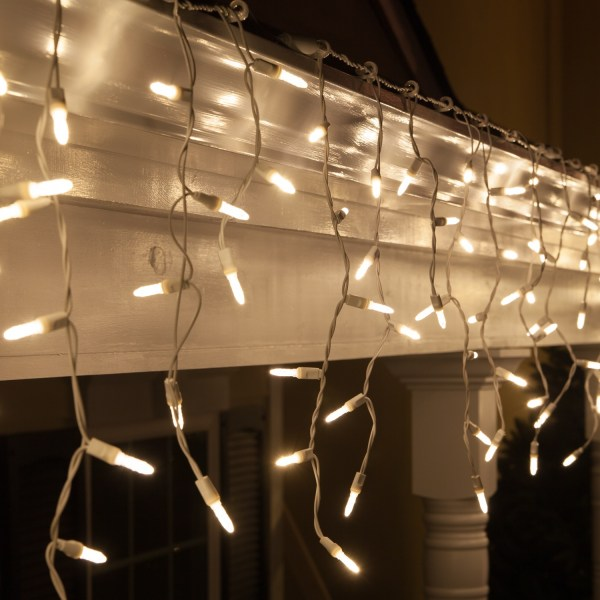 LED Christmas Lights 70 M5 Warm White LED Icicle Lights
