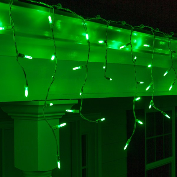 LED Christmas Lights 70 M5 Green LED Icicle Lights