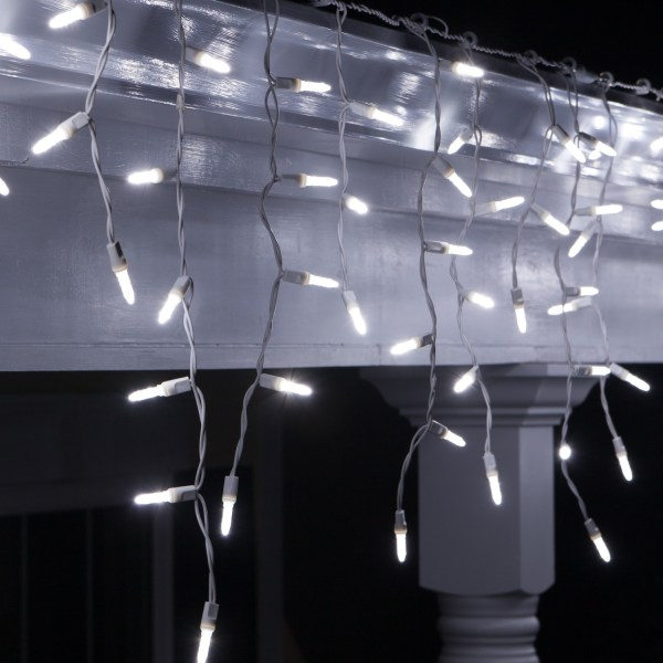 LED Christmas Lights 70 LED Icicle Lights Cool White M5
