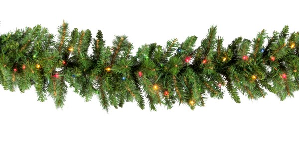 Lighted Christmas Garland - Brighton Fir Prelit Multicolor Lights