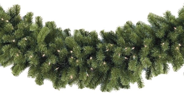 Lighted Christmas Garland - Sequoia Fir Prelit Commercial Clear Lights