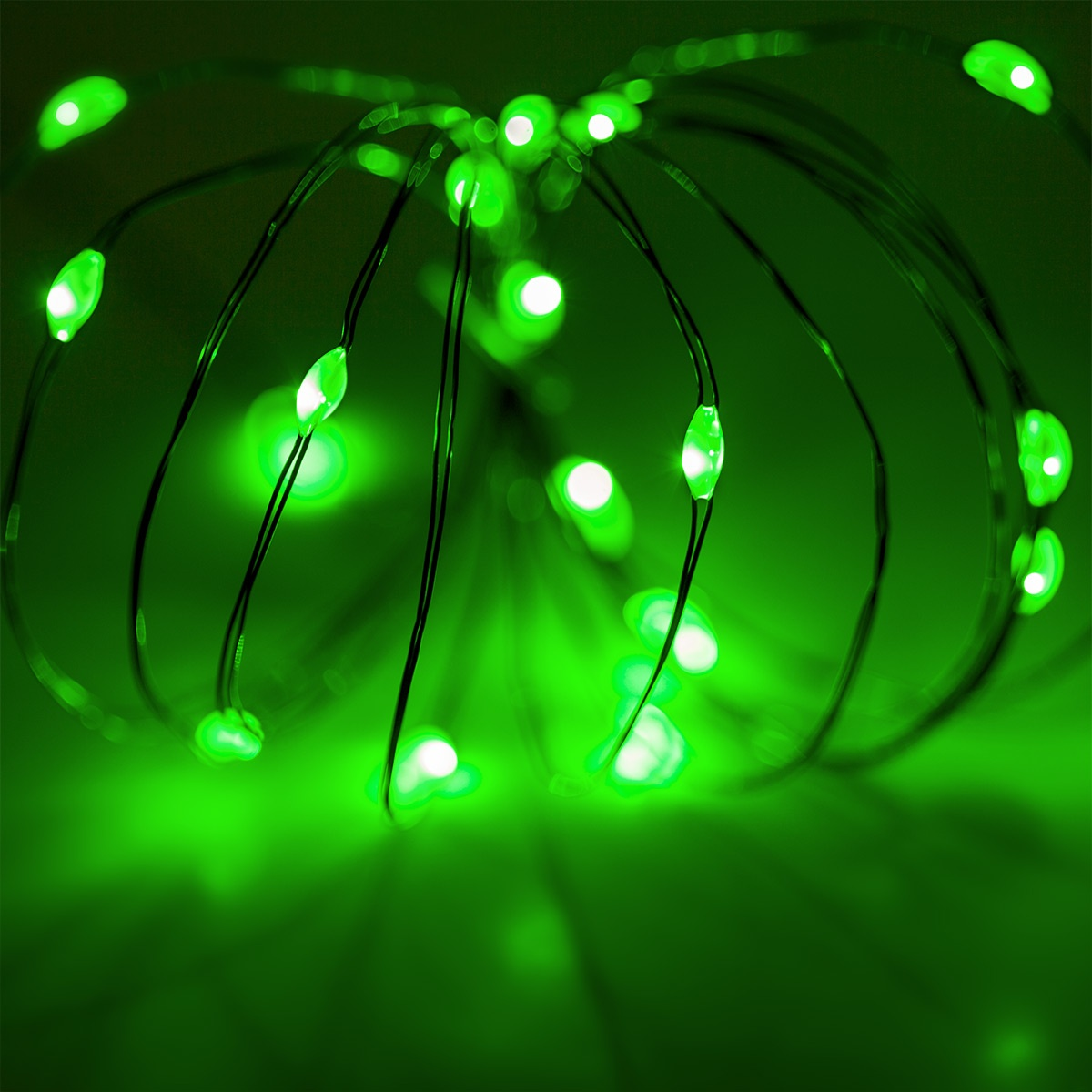 Battery Operated Lights  18 Green Battery Operated LED