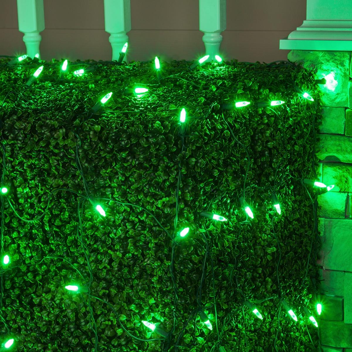 LED Net Lights M5 4x6 Pure Green LED Net Lights Green