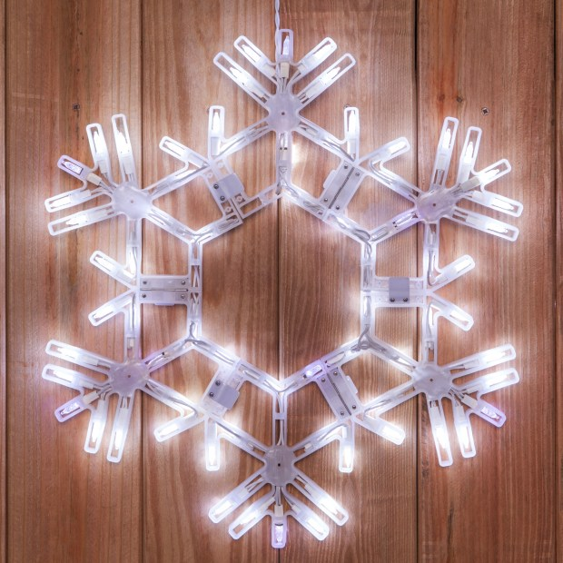 snowflake outdoor christmas decorations ideas