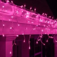 Christmas Icicle Light - 100 Purple Icicle Lights, White ...
