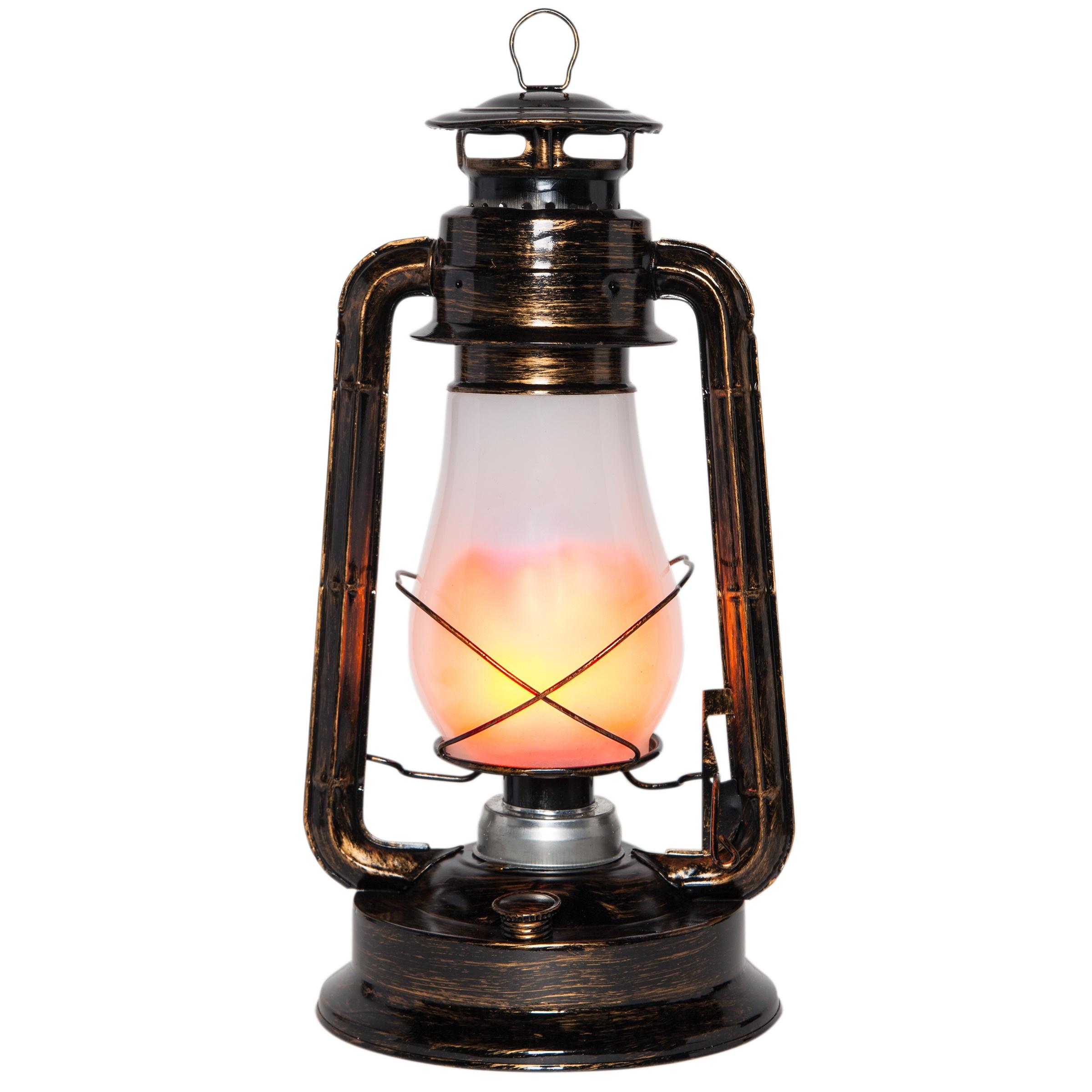 Pittura Shabby Leroy Merlin led lantern - decorative lantern with flickering led candle