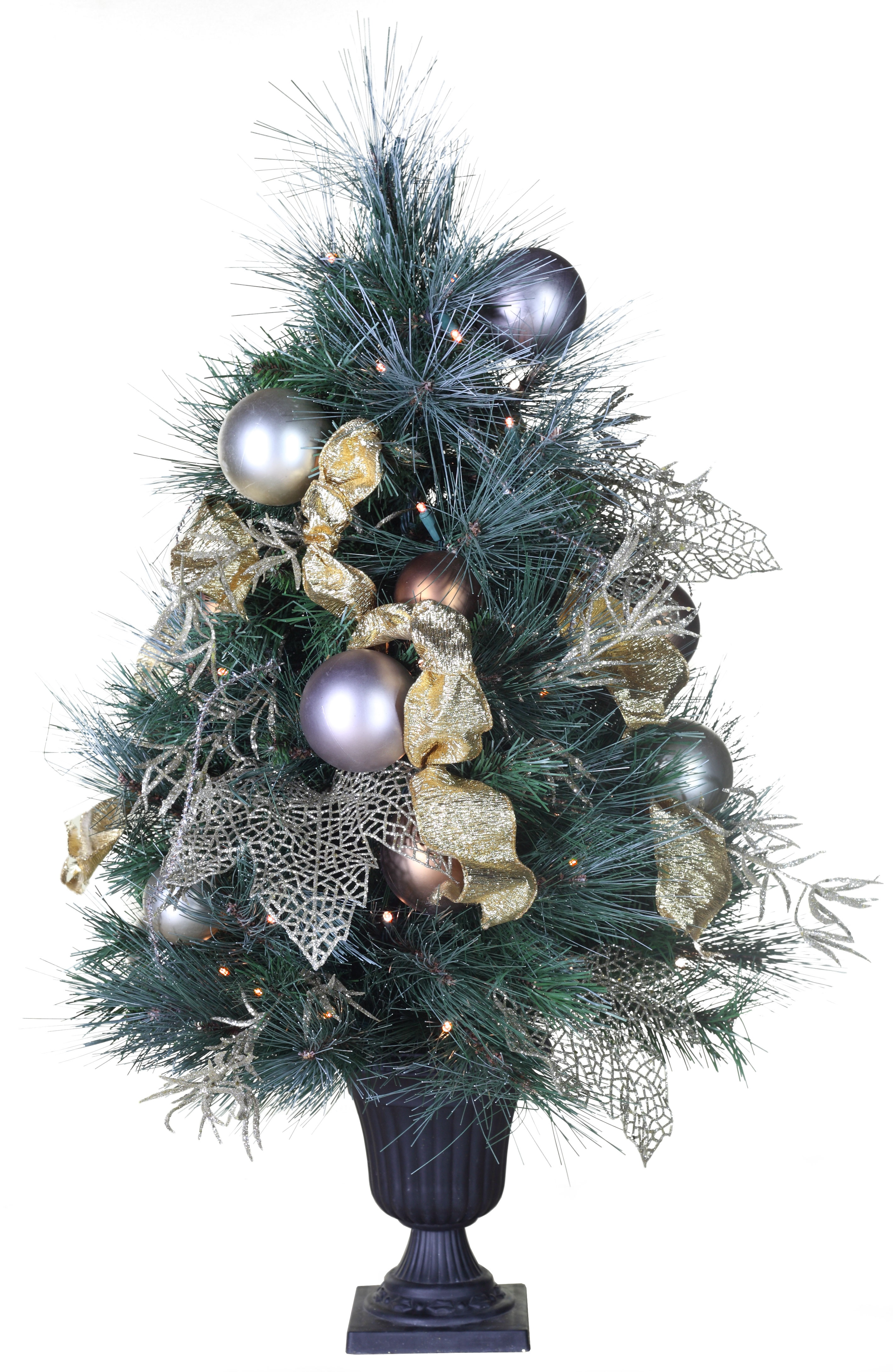 Predecorated Trees  3 Scotch Mixed Pine Battery Operated