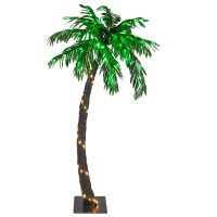 Lighted Palm Trees - 5' LED Curved Lighted Palm Tree