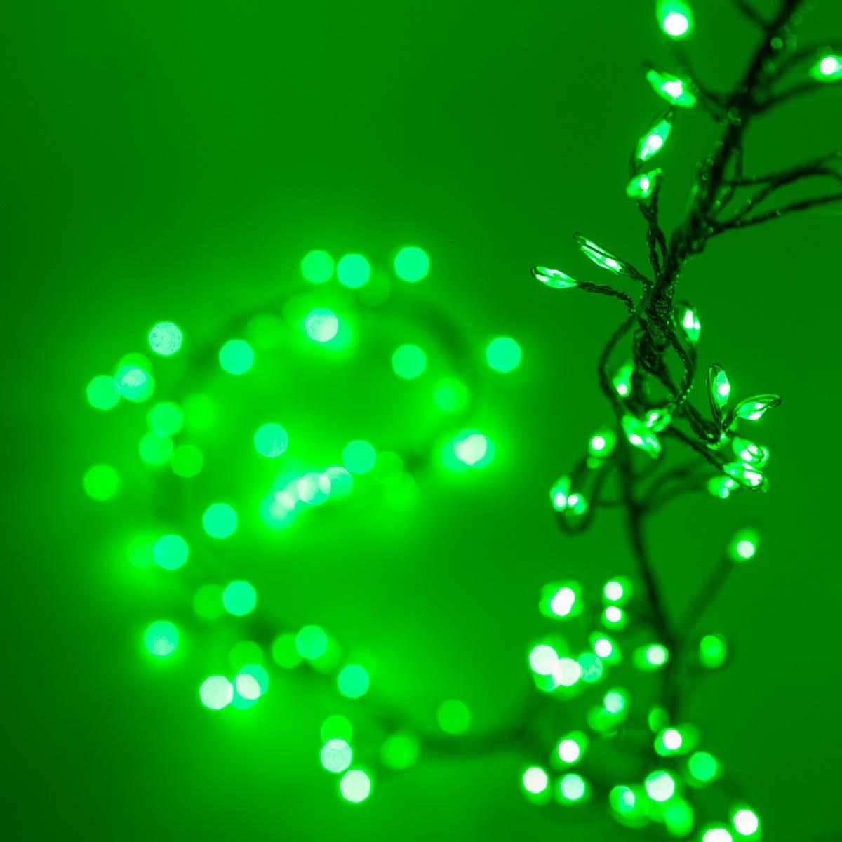 Novelty Lights  Green LED Fairy Garland Lights Green Wire