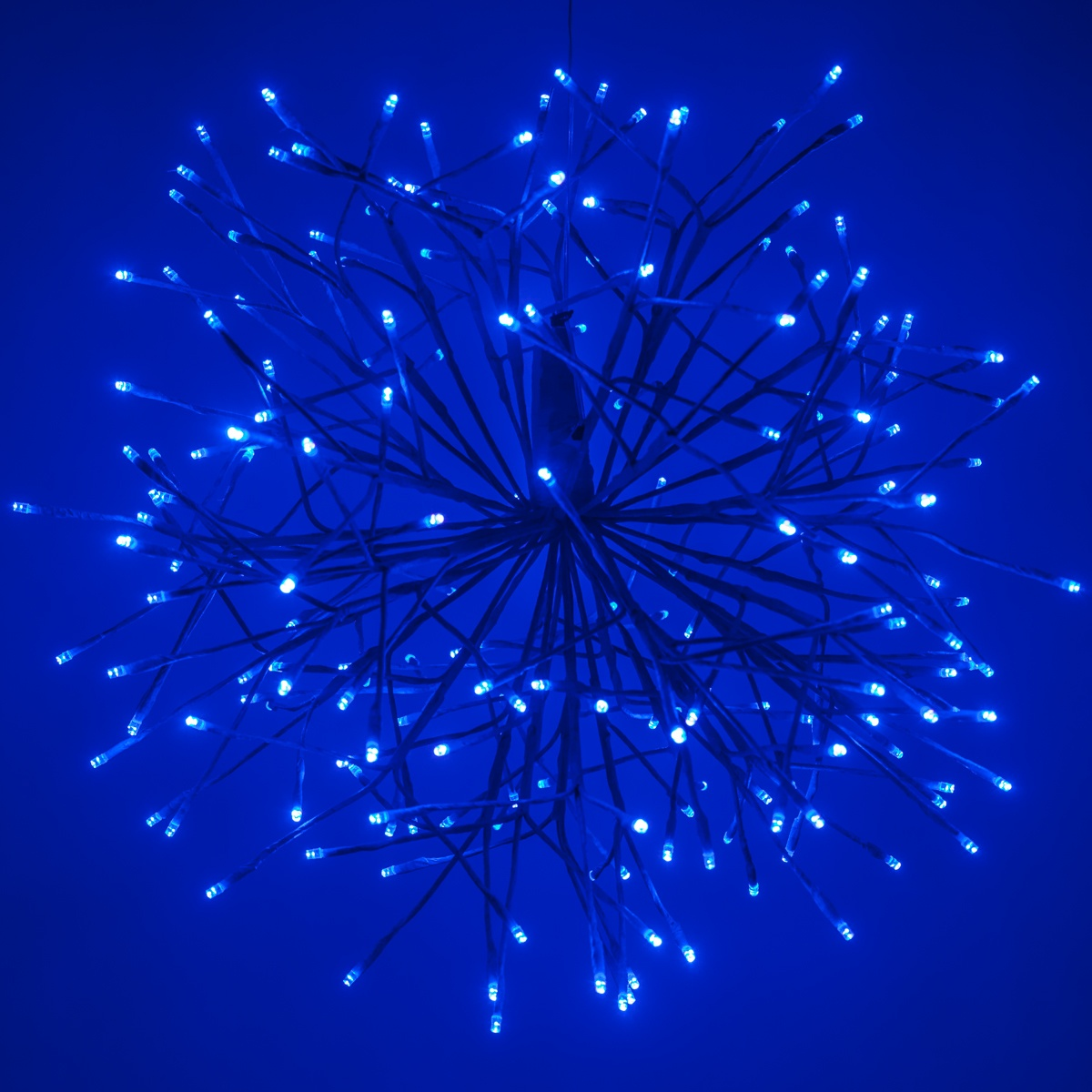 Blue Starburst Lighted Branches with BlueCool White LED