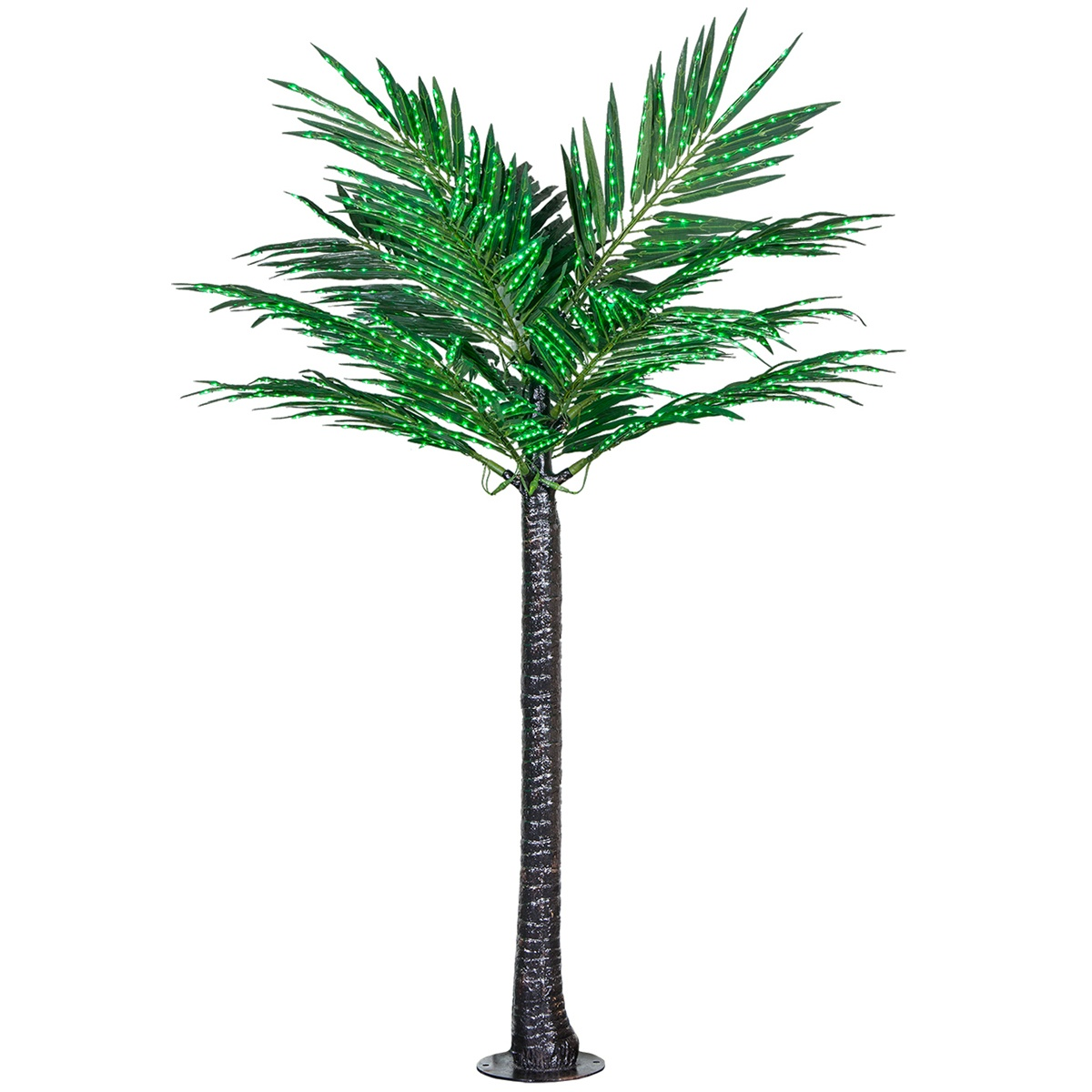 Lighted Palm Trees  8 LED Deluxe Commercial Lighted Palm
