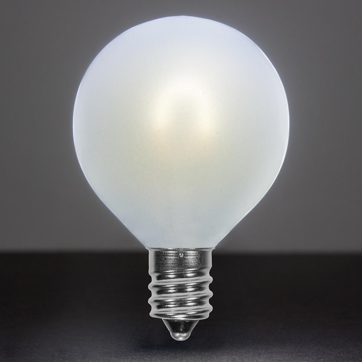 G50 Cool White Glass FlexFilament TM LED Edison Bulb Satin