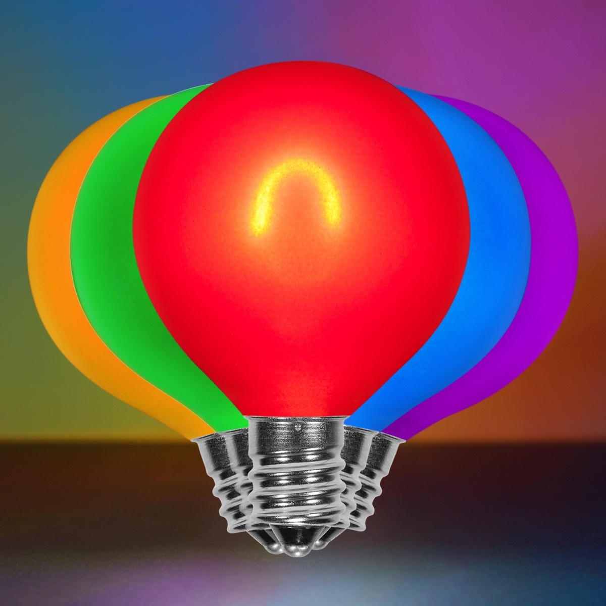 G50 Multicolor Glass FlexFilament TM LED Edison Bulb Satin