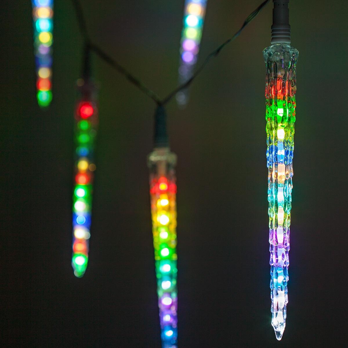 Novelty Lights Rgb Cascading Icicle Lights 10 Led Lights