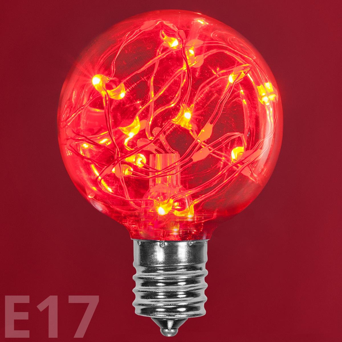 Red And White Bulb Christmas Lights