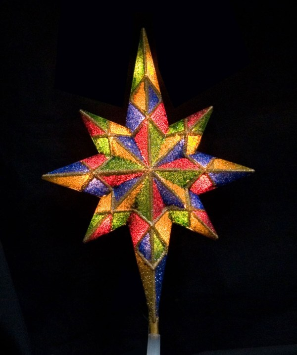 Christmas Decorations 11quot Mosaic Bethlehem Star Tree Topper