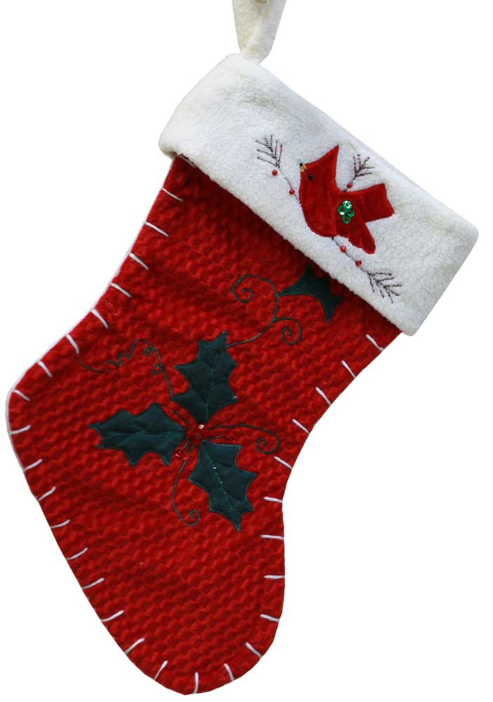 Christmas Stockings  15 Red Cardinal Christmas Stocking