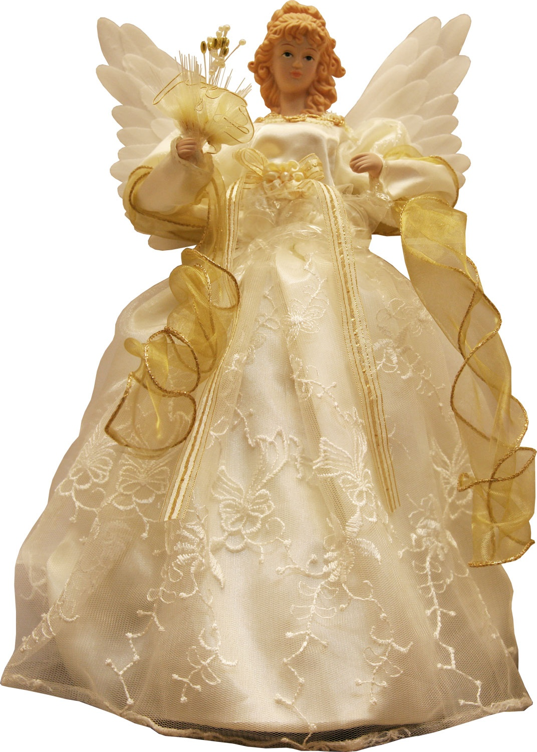 Christmas Decorations 14 Quot Gold And Ivory Animated Fiber