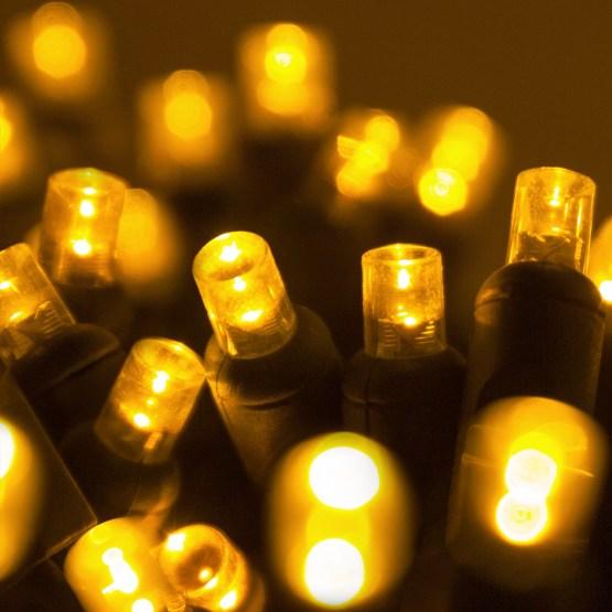 Wide Angle 5MM LED Lights  70 5mm Gold LED Christmas