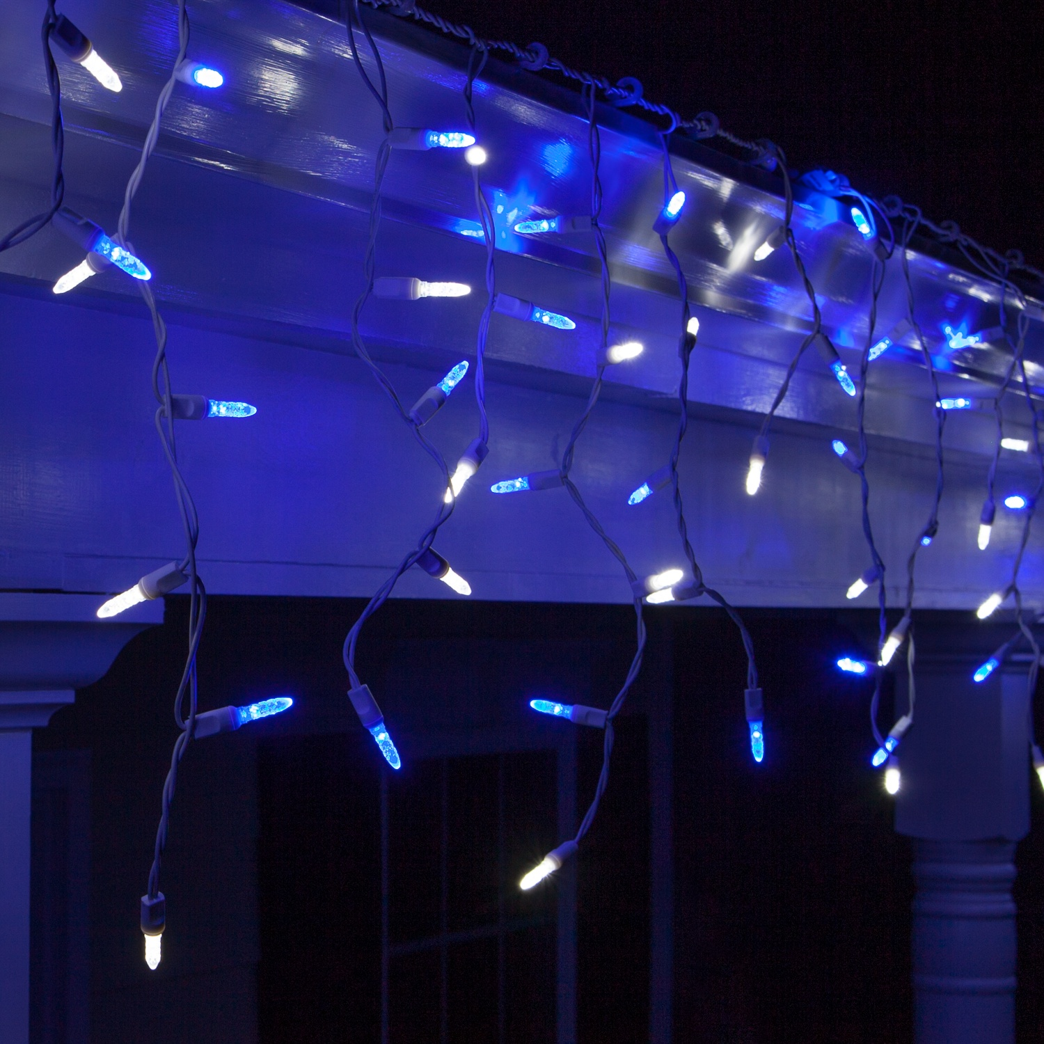 Led Christmas Lights 70 M5 Blue And White Led Icicle Lights