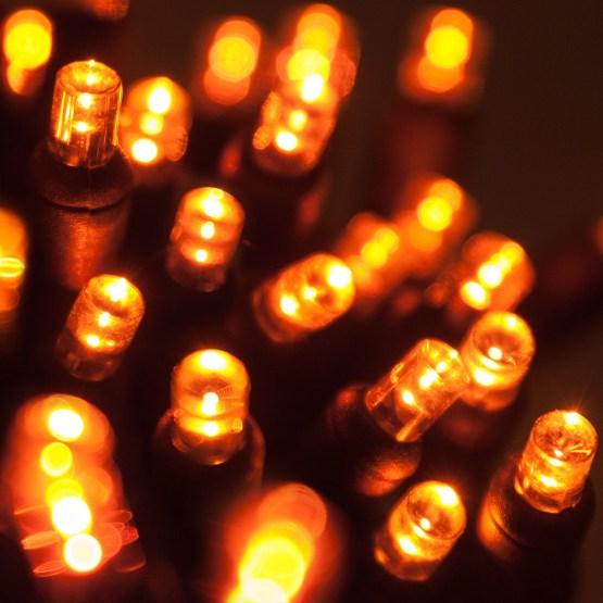 Wide Angle 5MM LED Lights  70 5mm Amber LED Halloween