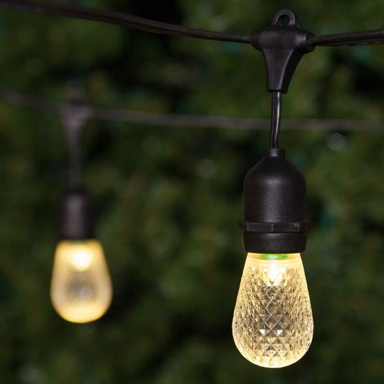 commercial patio string with suspended s warm white led outdoor patio lights