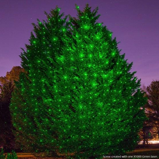 Green X1000 Laser Christmas Light Projector