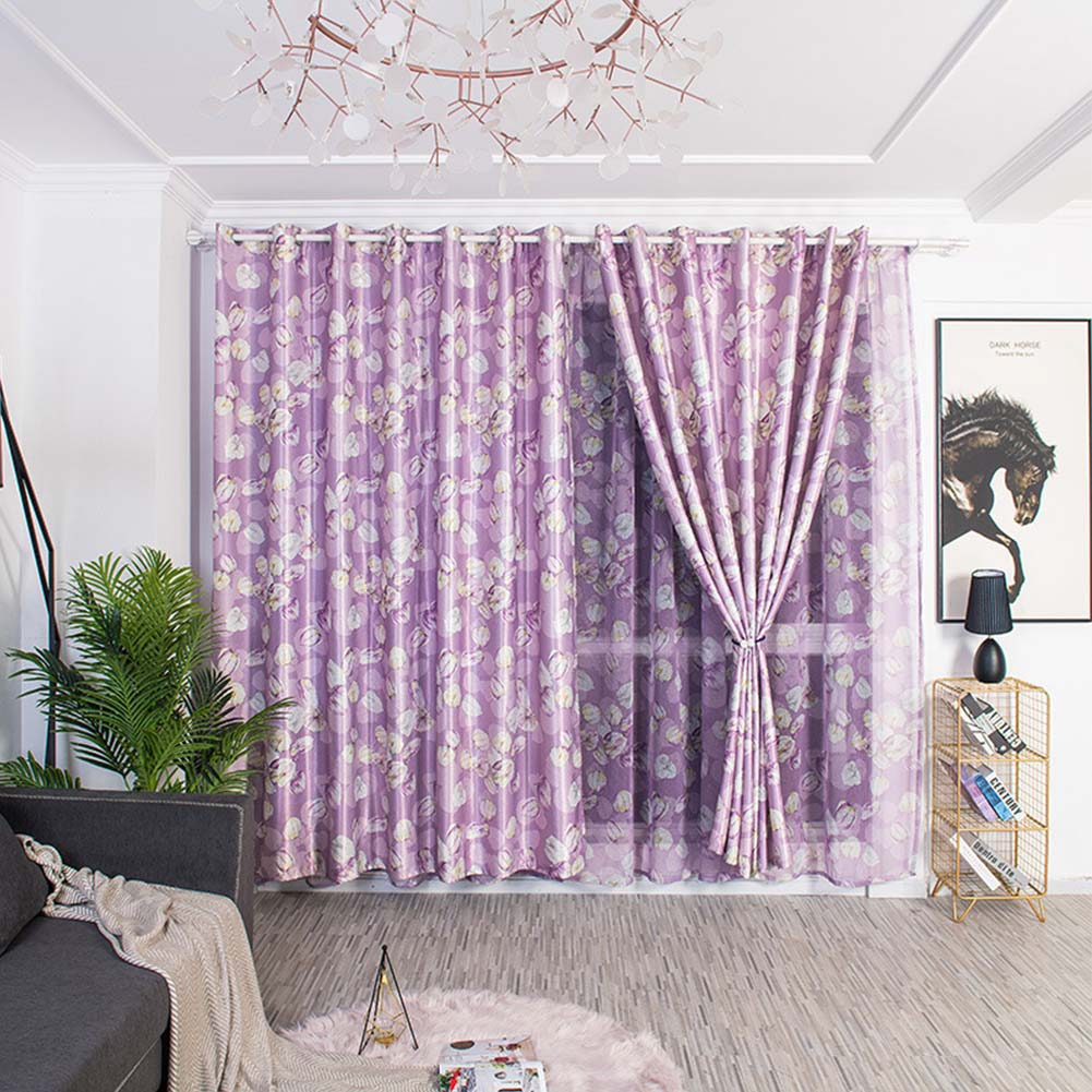 Wholesale Modern Printing Shading Curtains For Living Room Bedroom Kitchen Window Decor Purple Lantern Bubble White Silk Shading Curtain 1m Wide X 2 5m High Punch From China