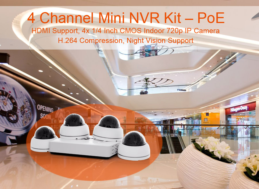 4 Channel Mini NVR Kit
