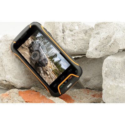 iMAN V3 Android 4.4 Rugged Phone - 4 Inch OGS Screen, Quad Core CPU, IP68 Waterproof + Dust Proof Rating, Shockproof (Orange)