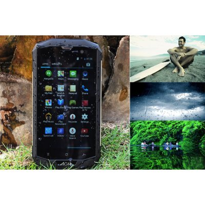 AGM 5S Rugged Phone - 4G, IP67 Rating, 5 Inch 1280x720 Display, Android 4.4 OS, MSM8926 1.2GHz Quad Core CPU (Golden)