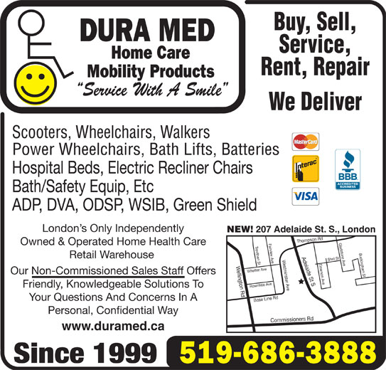 lift chairs edmonton ab fishing fighting chair parts dura med mobility products inc - london, on 207 adelaide st s | canpages