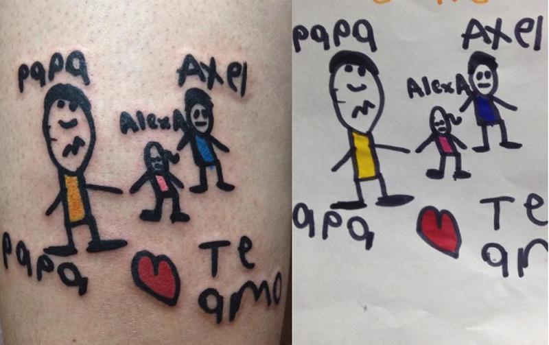 10 Tatuajes De Dibujos Hechos Por Niños En La Piel De Sus Papás
