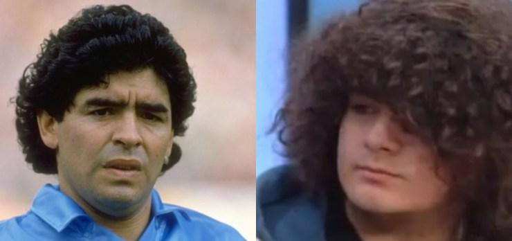 Maradona y Santiago Lara