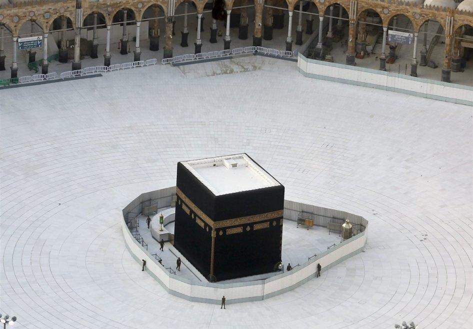 Una extraña imagen vacía de La Meca, en plena cuarentena obligatoria.