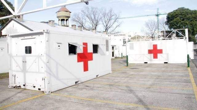 Parte del hospital desmontable