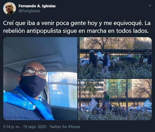 Fernando Iglesias banderazos
