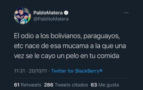 Escándalo por la viralizaron de tuits xenofóbicos del capitán de Los Pumas