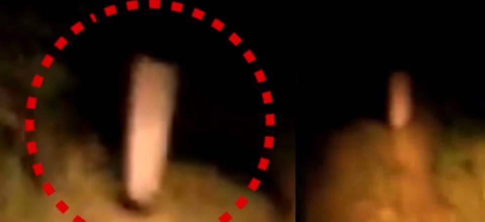 Captan el momento exacto en que aparece un fantasma en la ruta (y la gente entra en pánico)