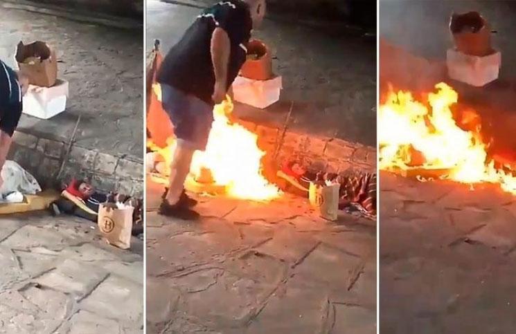 Resultado de imagen para Detuvieron en mataderos al tipo que prendió fuego a los indigentes