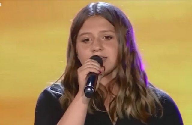 Sol Cwirkaluk cantó en el programa de Susana