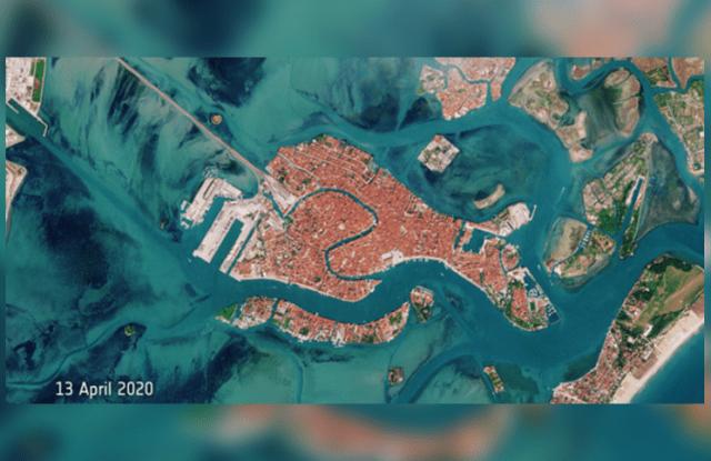 En calma y limpias: las imágenes de las aguas de Venecia desde el espacio