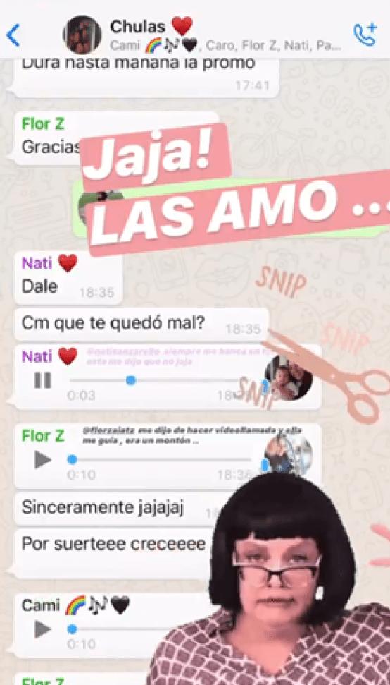 La reacción de las amigas de Flor Vigna