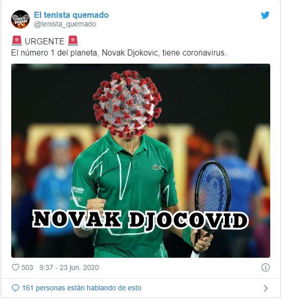 """De """"Djocovid"""" a """"Irresponsable"""": las redes criticaron a Novak Djokovic tras dar positivo en Covid-19"""